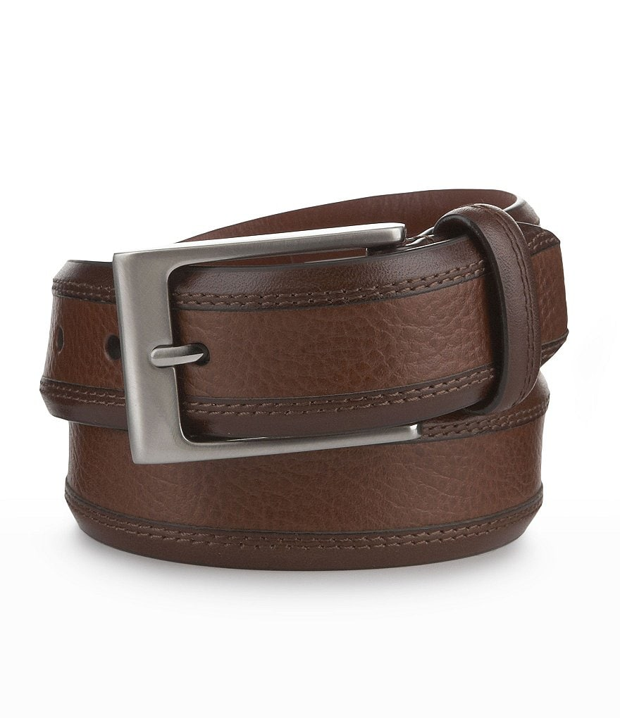 Cremieux Pebbled Stain Leather Belt