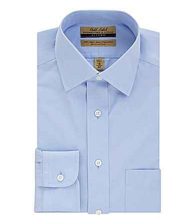 Roundtree & Yorke Gold Label No-Iron Spread-Collar Fitted Dress Shirt