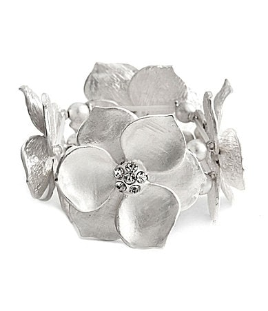 Natasha Accessories Large Flower Stretch Bracelet