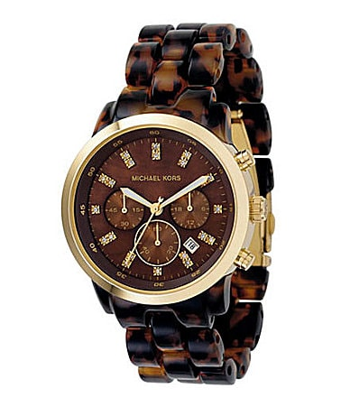 Michael Kors Women's Oversize Showstopper Chocolate-Dial Chronograph Watch
