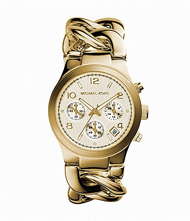 Michael Kors Runway Twisted-Bracelet Chronograph Watch