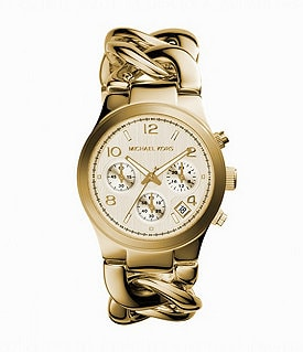 Michael Kors Runway Twisted-Bracelet Chronograph Watch Image