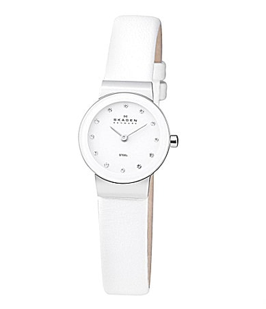 Skagen White-Dial Glitz Watch