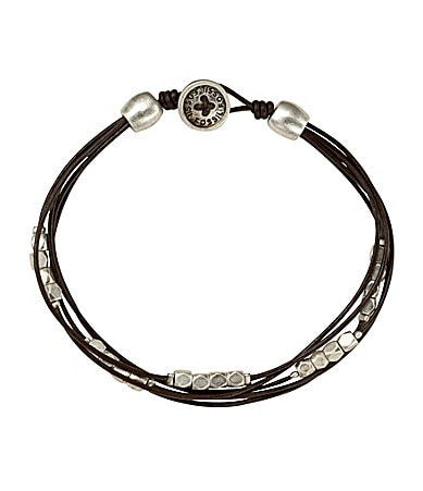 Fossil 5-Row Nugget Station Wrap Bracelet