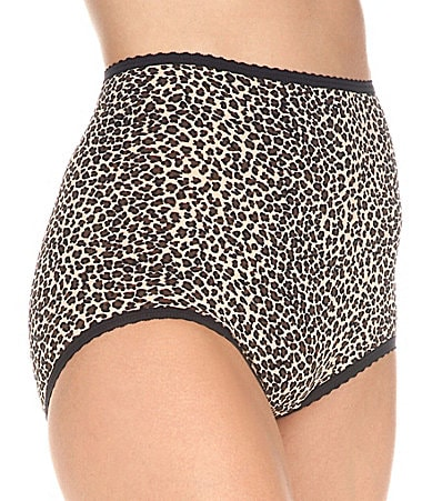 Cabernet Seam d� Fit Printed Stretch Full Brief Panty