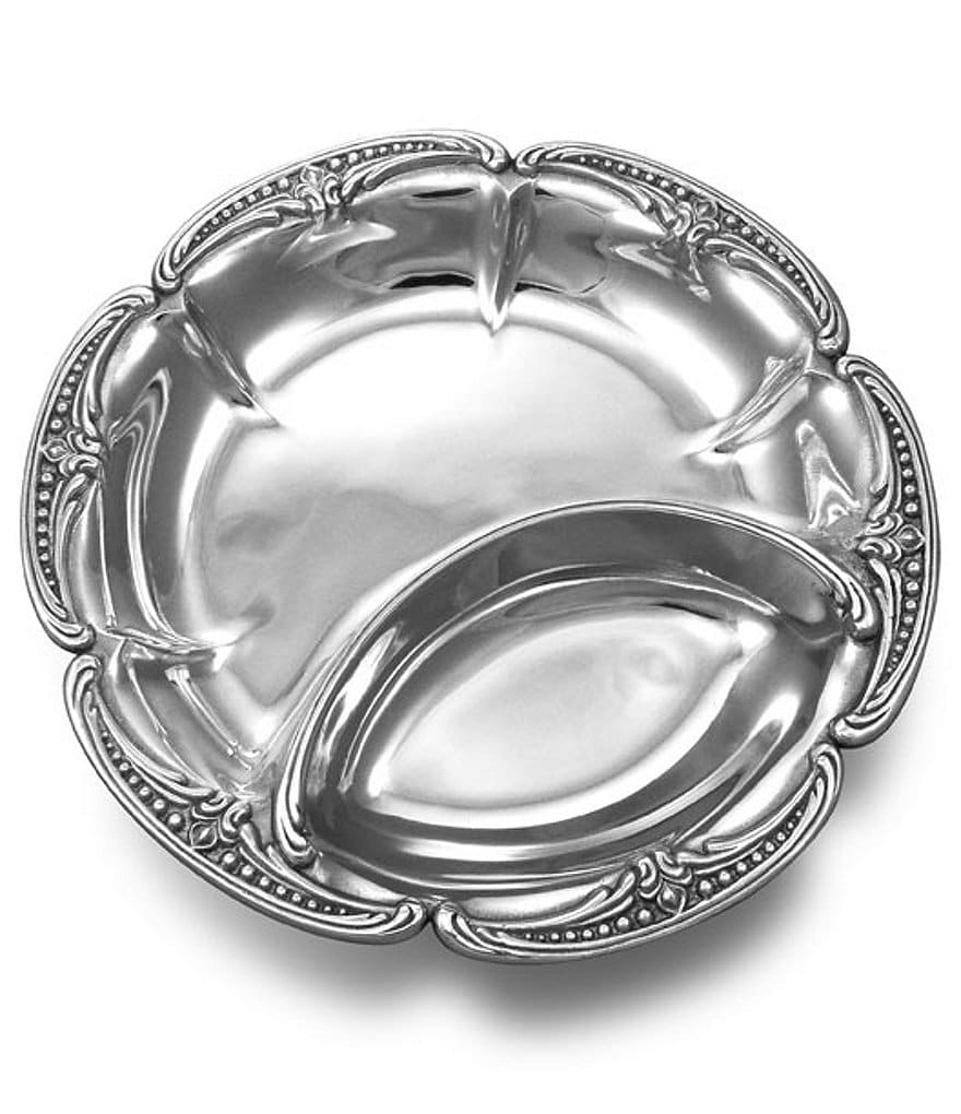Wilton Armetale Belle Mont Chip & Dip Server