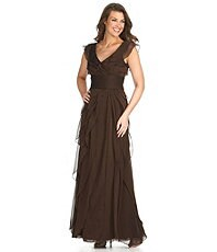 Adrianna Papell Tiered Gown