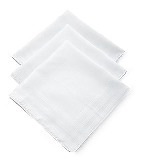 Roundtree & Yorke Imperial Cotton Handkerchiefs 3-Pack Image