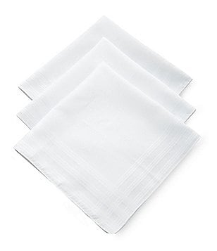 Roundtree & Yorke Imperial Cotton Handkerchiefs 3-Pack