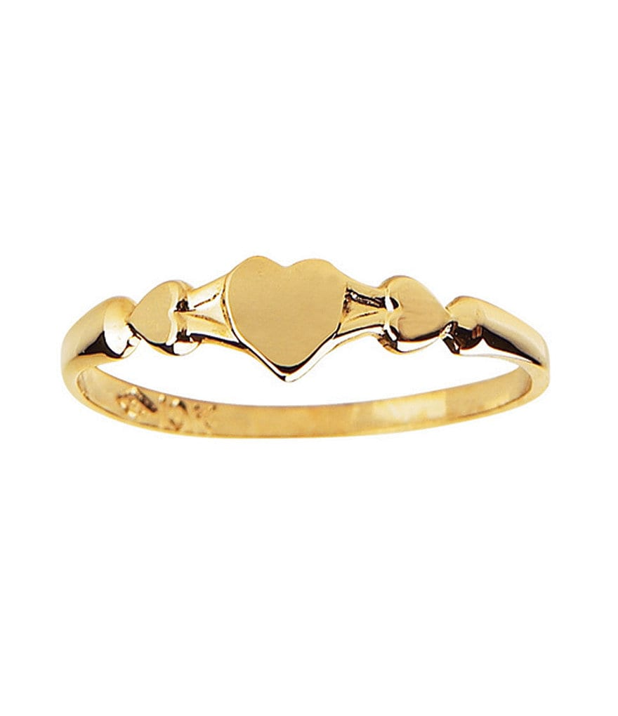 Elegant Baby Gold Heart Ring