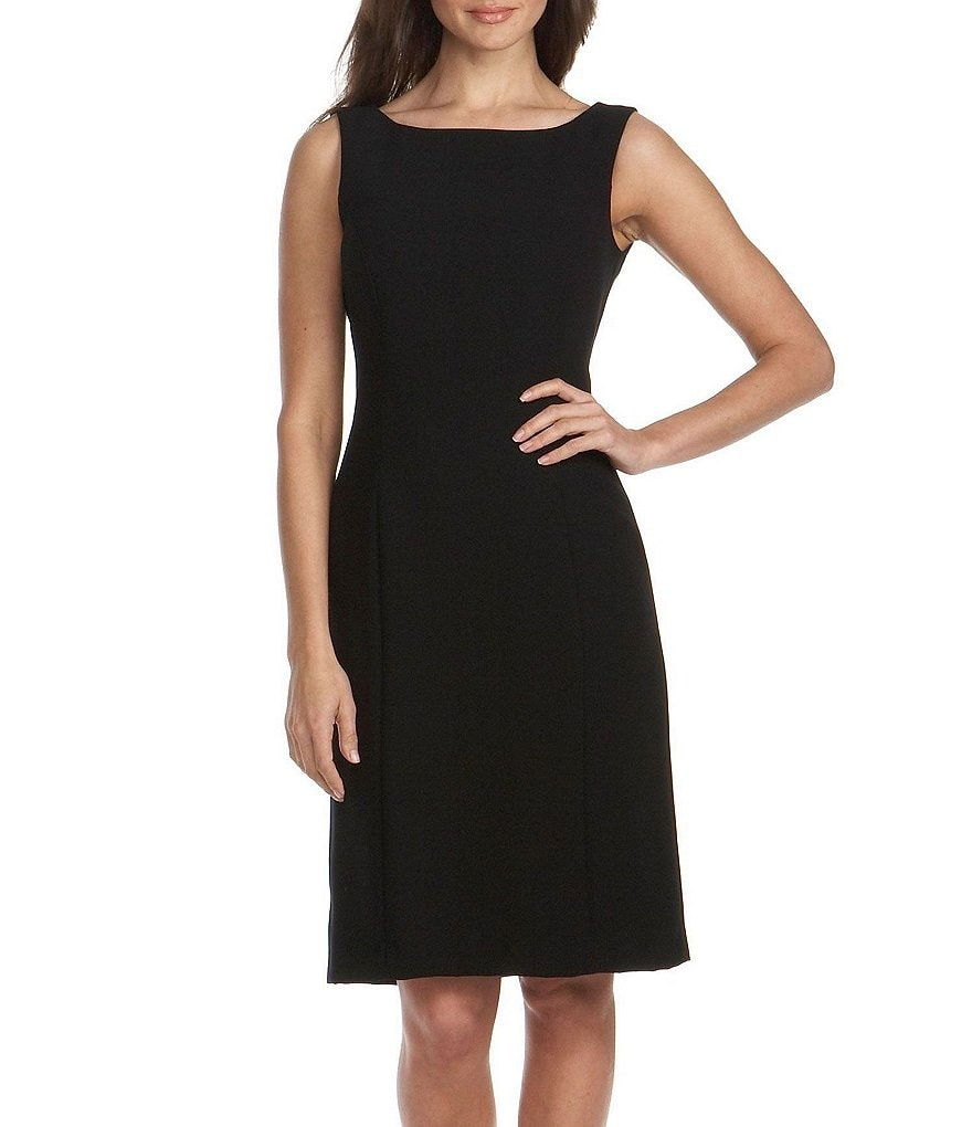Tahari ASL Sleeveless Crepe Dress