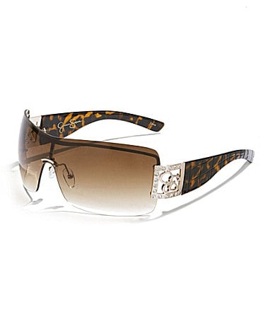 Jessica Simpson Rimless Shield Sunglasses