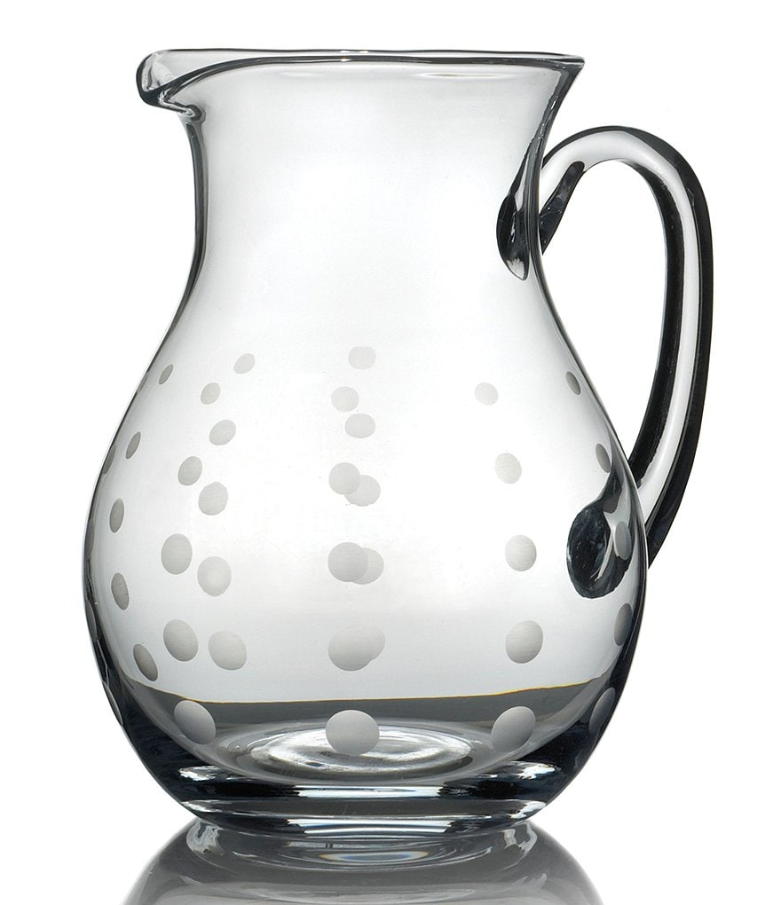 Mikasa Cheers Dotted Glass Pitcher
