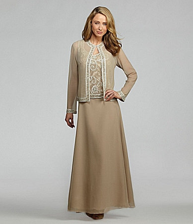 Jkara Shimmer-Trim Jacket Dress