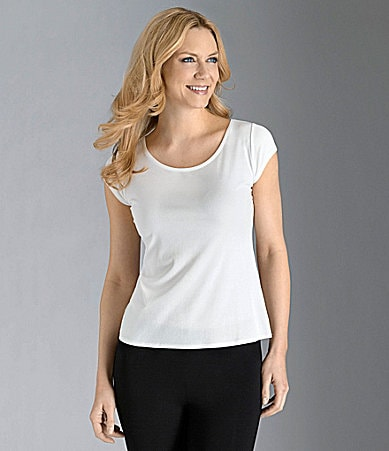 Eileen Fisher Essentials Cap-Sleeve Tee
