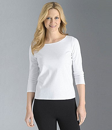 Eileen Fisher Essentials Petites Ballet-Neck Top