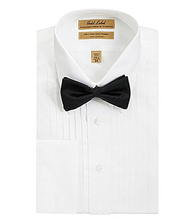 Roundtree & Yorke Gold Label Point-Collar Tuxedo Shirt