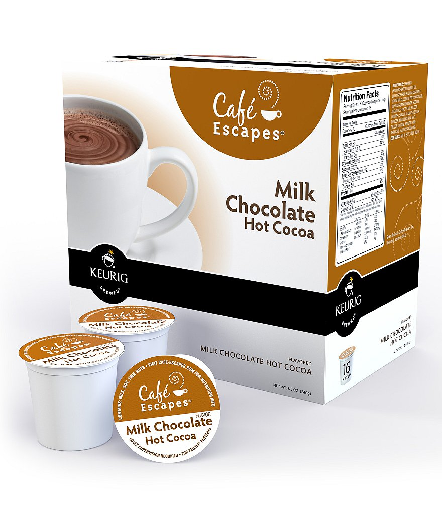 Cafe Escapes Milk Chocolate Hot Cocoa K-Cups