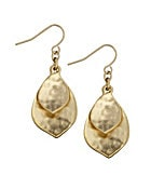 Lauren Ralph Lauren Hammered Teardrop Earrings
