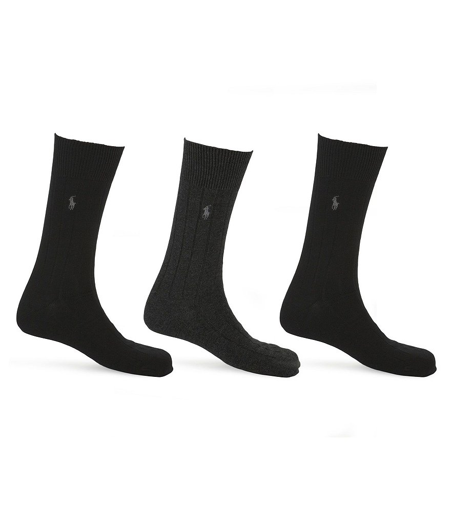 Polo Ralph Lauren Combed Cotton Dress Socks 3-Pack