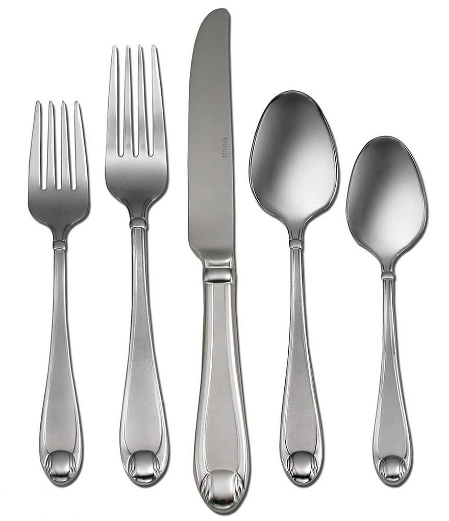 Oneida Satin Garnet 65-Piece Stainless Steel Flatware Set