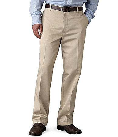 Dockers Never-Iron� Essential Khaki D2 Straight-Fit Flat-Front Pants
