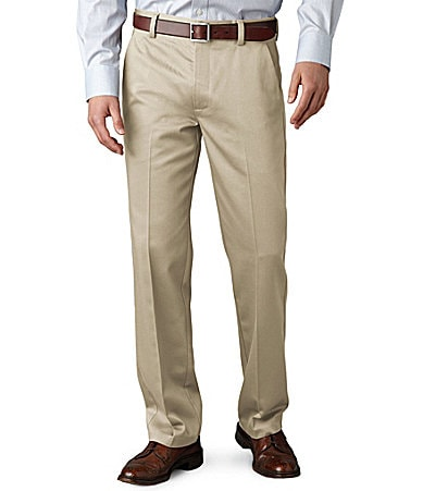 Dockers Never-Iron� Essential Khaki D1 Slim-Fit Flat-Front Pants