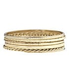 Dillard�s Boxed Collection Goldtone Bangle Bracelet Set