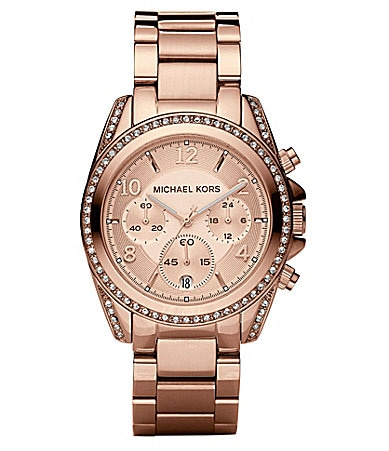Michael Kors Blair Stone-Detail Chronograph Sport Watch