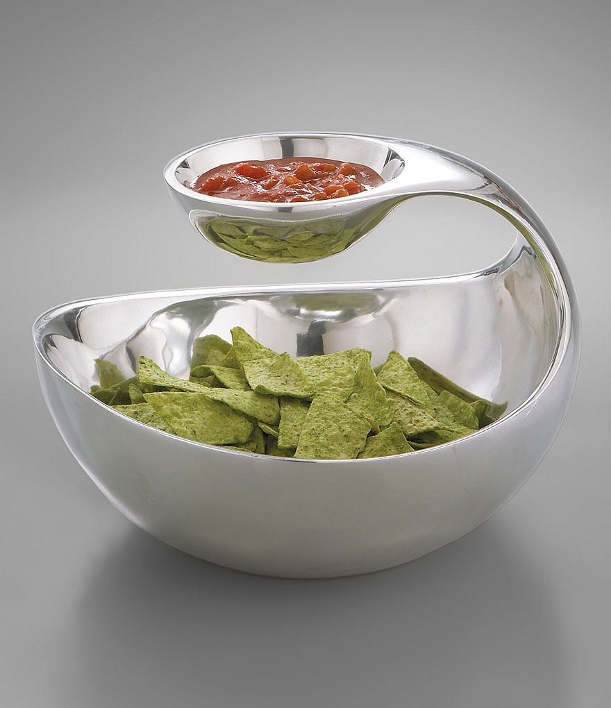 Nambe Scoop Chip & Dip Server