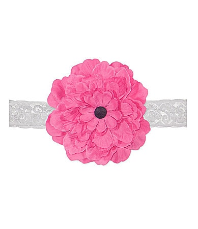 Starting Out Infant Flower-Accented Lace Headband