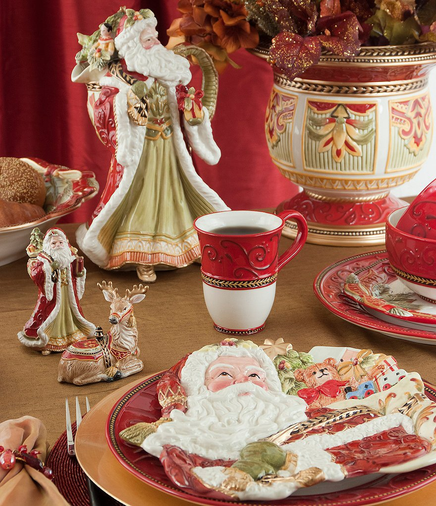 Fitz and Floyd Damask Holiday Dinnerware