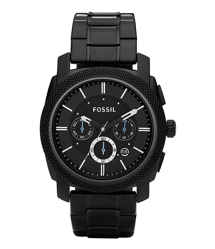 Fossil Machine Black-Dial Chronograph Watch