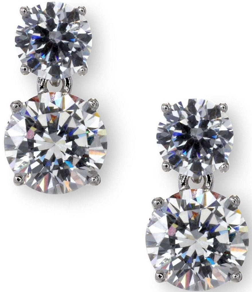 Nadri Cubic Zirconia Round Drop Earrings