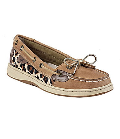 Sperry Top-Sider Angelfish Leopard-Print Boat Shoes