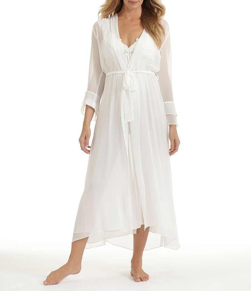 In Bloom by Jonquil Long Bridal Chiffon Robe
