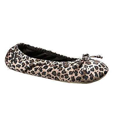 Isotoner Animal-Print Classic Ballet Slippers