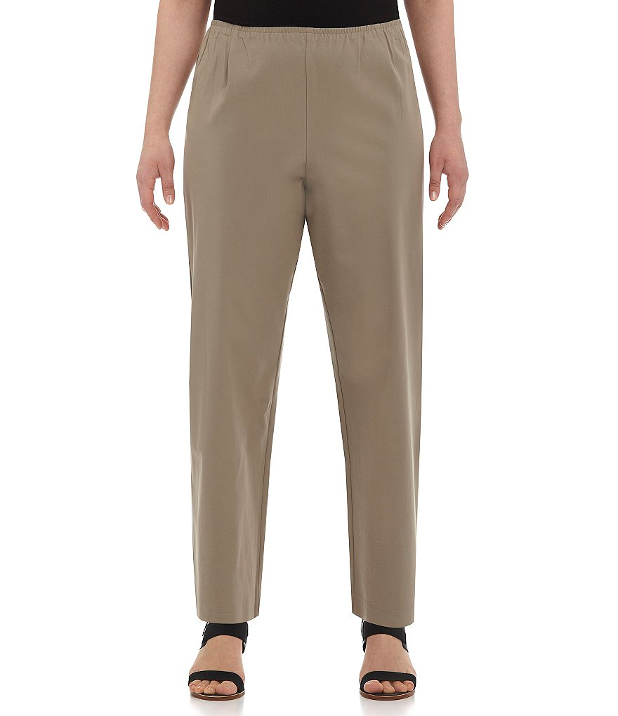 Eileen Fisher Plus Twill Slim Ankle Pants