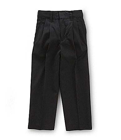 Class Club 2T-7 Black Pleated Dress Pants