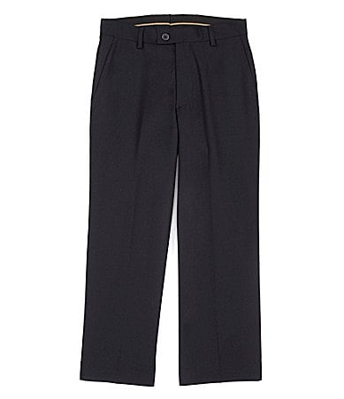 Class Club Gold Label 8-20 Black Flat-Front Dress Pants