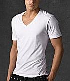 Polo Ralph Lauran Big & Tall Classic Tall V-Neck Tees 2-Pack