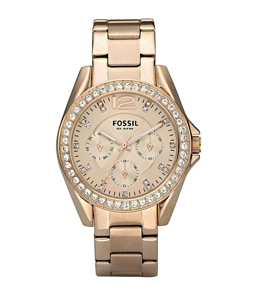 Fossil Riley Rose Gold Boyfriend Multifunction Watch