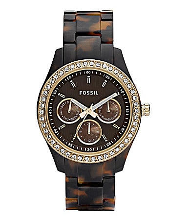 Fossil Stella Faux-Tortoise Multifunction Watch