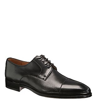 Magnanni Daniel Calf Skin Cap-Toe Dress Shoes