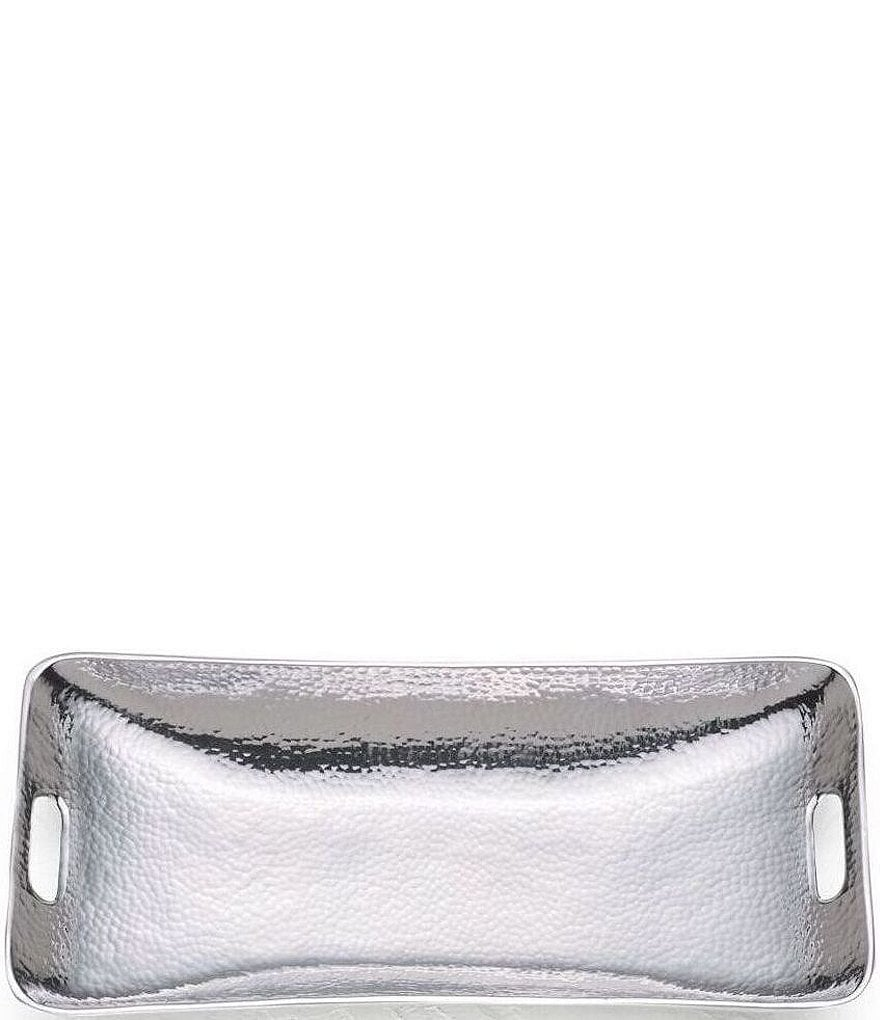 Towle Silversmiths Hammered Metal Rectangular Tray