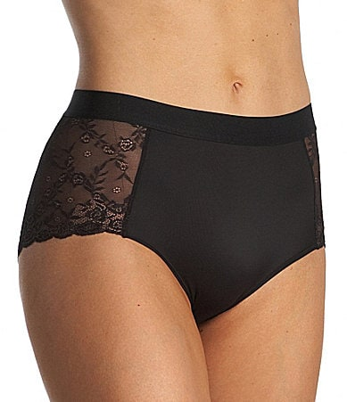 Modern Movement Microfiber/Lace Brief Panty