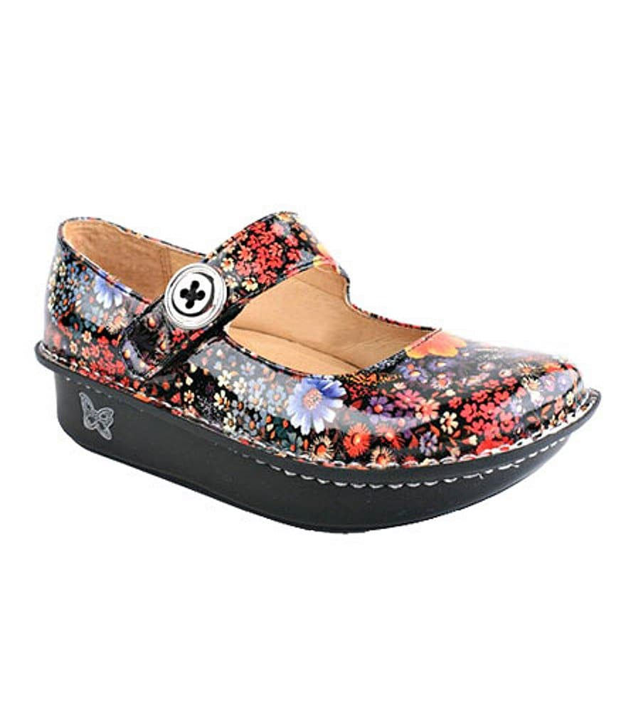 Alegria Paloma Floral Mary Jane Clogs