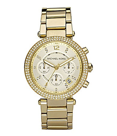Michael Kors Parker Goldtone Chronograph Watch
