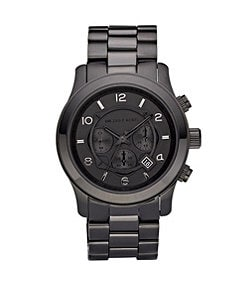Michael Kors Runway Black Chronograph Sports Watch