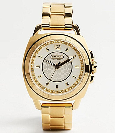 COACH BOYFRIEND CRYSTAL GOLD PLATED BRACELET